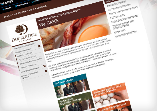 DoubleTree Intranet Refresh