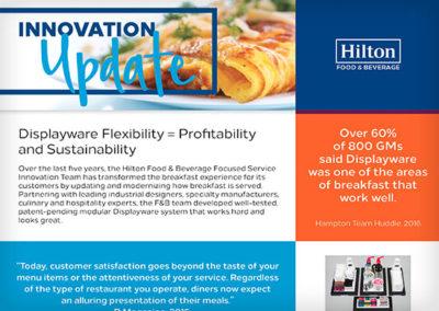 Hilton Worldwide Food & Beverage Email Newsletter