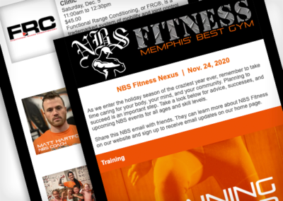 NBS Fitness – Email Newsletter