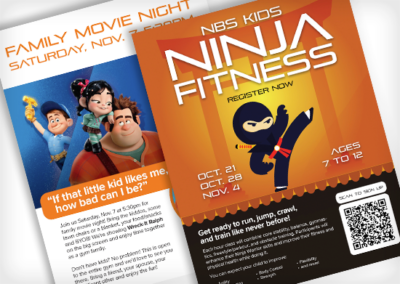 NBS Fitness – Event Flyers